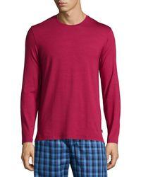 Derek Rose - Solid Long-sleeve Jersey Lounge T-shirt - Lyst