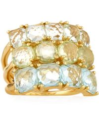 Ippolita - 18k Rock Candy Mixed-stone Cluster Ring In Laguna - Lyst