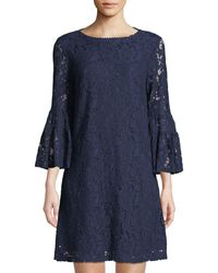 Laundry by Shelli Segal - 3/4-sleeve Lace Shift Dress - Lyst