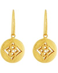 Gurhan | 22k Topkapi Single Diamond Drop Earrings | Lyst