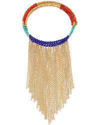 Panacea Fringe Collar Necklace, Yellow