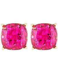 Lydell NYC - Fuchsia Glitter Stud Earrings - Lyst