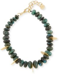 Nest | Faceted Green Labradorite Beaded Necklace | Lyst