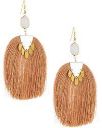 Nakamol - Moonstone & Tassel Drop Earrings - Lyst