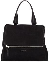 Givenchy - Pandora Pure Medium Suede Satchel Bag - Lyst