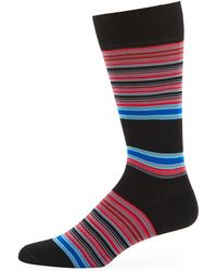 Jared Lang - Striped Cotton-blend Socks - Lyst