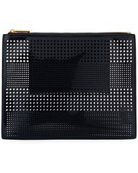 Neiman Marcus - Perforated Zip Pouch Bag - Lyst