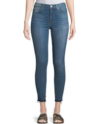 7 For All Mankind - Gwenevere Medium-wash Released-hem Jeans - Lyst