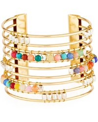 Nakamol - Striped Cuff Bracelet W/ Beads - Lyst