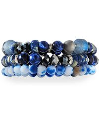 Lydell NYC - Triple-strand Beaded Bracelet - Lyst