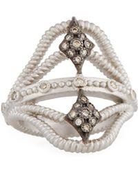 Armenta - New World Twisted Ring W/ Champagne Diamonds Size 7 - Lyst