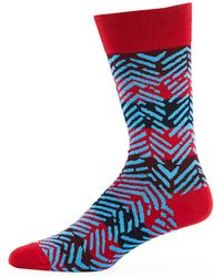 Bugatchi - Men's Striped Chevron Socks - Lyst