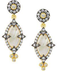 Freida Rothman - Iridescent Crystal Marquise Drop Earrings - Lyst
