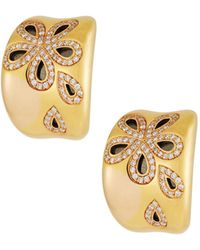Roberto Coin - 18k Rose Gold Fantasia Diamond Daisy Earrings - Lyst