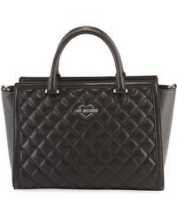 Love Moschino - Quilted Zip Top-handle Shoulder Bag - Lyst
