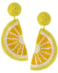 Kenneth Jay Lane - Lemon Seed Bead Dangle Earrings - Lyst