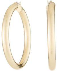 Fragments - Golden Hoop Earrings - Lyst