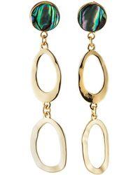 Lydell NYC - Double-hoop Dangle Earrings - Lyst