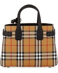 Burberry - Banner Small Vintage Check Tote Bag - Lyst
