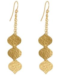 Gurhan - Clove 24k Triple-strand Flake Earrings - Lyst
