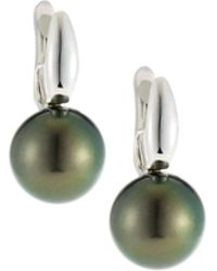 Belpearl - 18k Tahitian Pearl Drop Earrings - Lyst