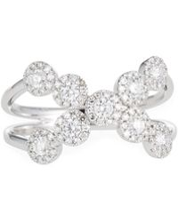 Neiman Marcus - 14k White Gold Diamond Crisscross Ring - Lyst