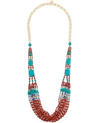 Devon Leigh - Multi-strand Coral & Turquoise Necklace - Lyst