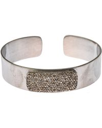 Bavna - Diamond Pave Bangle Bracelet - Lyst
