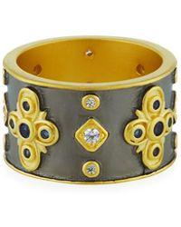 Freida Rothman - Cubic Zirconia Clover Cigar Band Ring Size 7 - Lyst