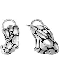 John Hardy - Kali Silver Overlap Earrings - Lyst