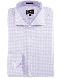 Neiman Marcus | Classic-fit Regular-finish Square-print Dress Shirt | Lyst