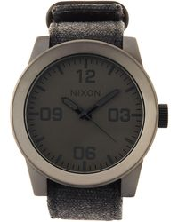 Nixon - 48mm Corporal Matte Watch - Lyst