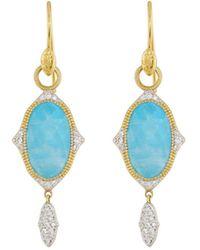 Jude Frances 18K Moroccan Doublet Oval Drop Earrings yE58uQmia