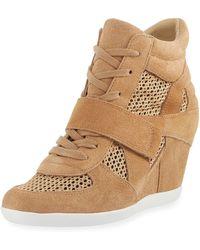 Ash - Bowie Mixed Mesh Wedge Sneakers - Lyst