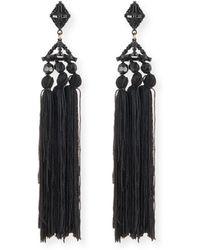Lulu Frost - Helena Beaded Tassel Earrings - Lyst