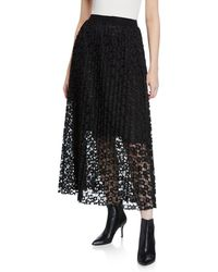 Romeo and Juliet Couture - Pleated Lace Maxi Skirt - Lyst