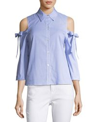 Waverly Grey - Mindy Striped Cold-shoulder Top - Lyst