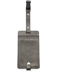 Neiman Marcus - Metallic Snake-embossed Luggage Tag - Lyst