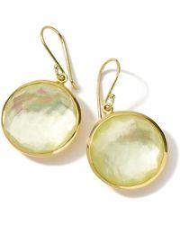 Ippolita - 18k Gold Rock Candy Lollipop Earrings In Citrine/mop Doublet - Lyst
