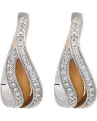 Chimento - 18k Two-tone Gold & Diamond Wavy Earrings - Lyst