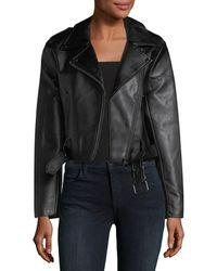 Catherine Malandrino - Vegan-leather Motorcycle Jacket - Lyst
