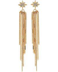 Lydell NYC - Fringe Drop Earrings W/ Starburst - Lyst