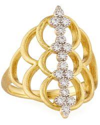 Jude Frances - Moroccan 18k Diamond Center Ring - Lyst