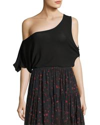 IRO - Kael Convertible Cold-shoulder Jersey Tee - Lyst