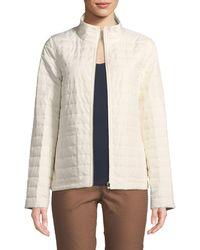 Lafayette 148 New York - Garcia Long-sleeve Puffer Jacket - Lyst