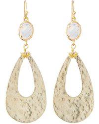Nakamol - Clear Stone & Teardrop Earrings - Lyst
