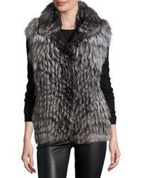 Gorski - Fox Fur Vest - Lyst
