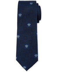 Versace - Men's Greek Key Silk Tie - Lyst