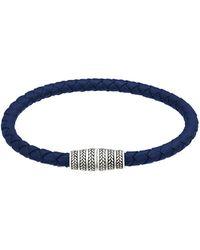 Jan Leslie - Men's Braided Leather Magnetic Bracelet - Lyst
