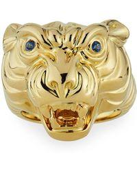 Sydney Evan - 14k Tiger Ring W/ Sapphires Size 7 - Lyst